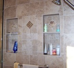 Master Bath Shower Niches